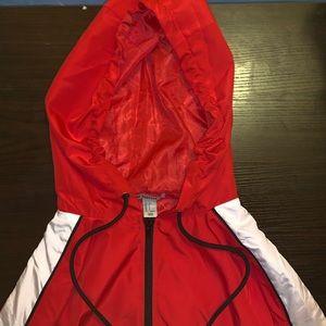 Forever 21 windbreaker/rain jacket SMALL Red/white